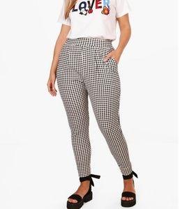 Gingham print trousers